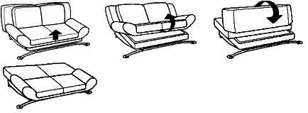 Клик-клак, клик-кляк - Механизм трансформации дивана